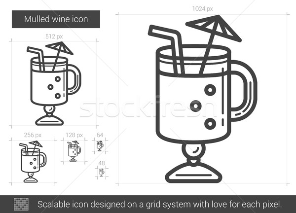 Mulled wine line icon. Stock photo © RAStudio