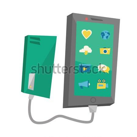 スマートフォン ポータブル バッテリー ベクトル デザイン 実例 ストックフォト © RAStudio
