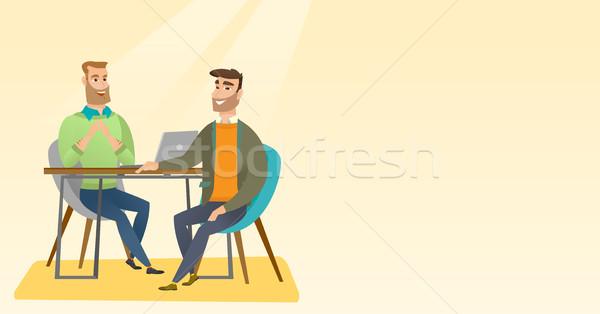 Pracy wnioskodawca wywiad pozycja ludzi zasób Zdjęcia stock © RAStudio
