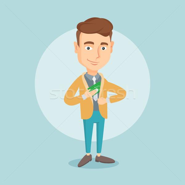 ビジネスマン お金 ポケット 白人 小さな 隠蔽 ストックフォト © RAStudio