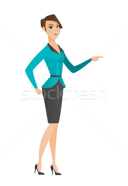 Furious business woman screaming. Stock photo © RAStudio