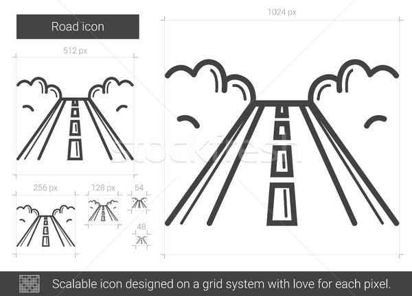 Road line icon. Stock photo © RAStudio
