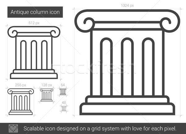 Antique column line icon. Stock photo © RAStudio