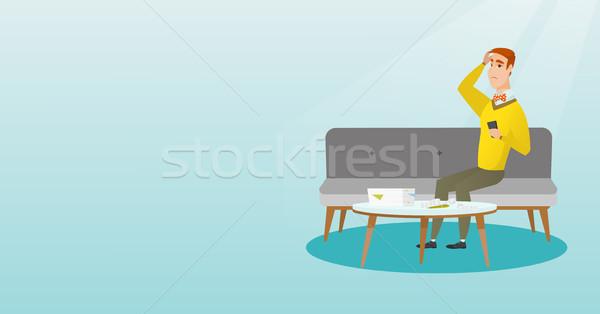 不幸 白人 男 会計 ホーム ストックフォト © RAStudio