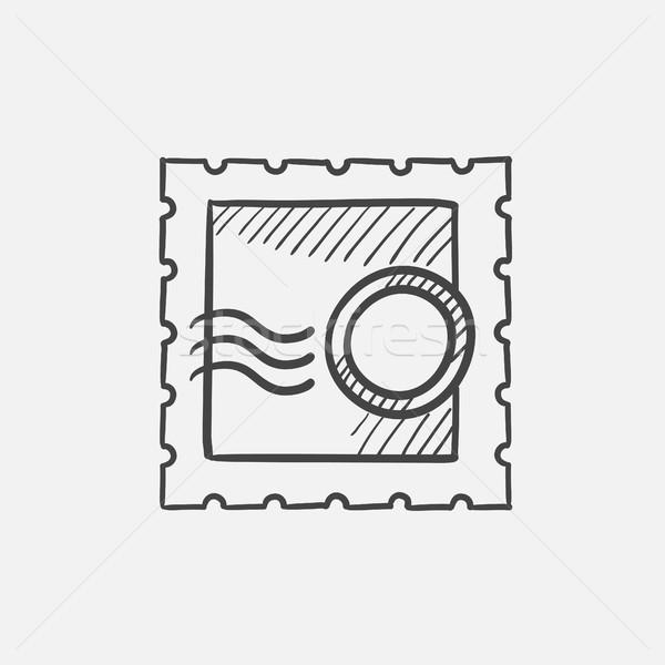 Filatelia boceto icono sello web móviles Foto stock © RAStudio