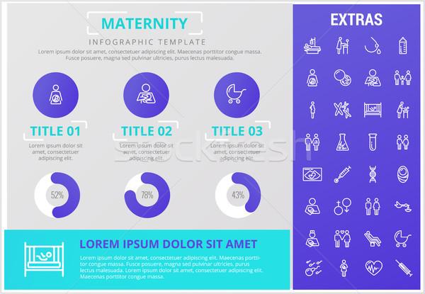 Maternidad infografía plantilla elementos iconos personalizable Foto stock © RAStudio