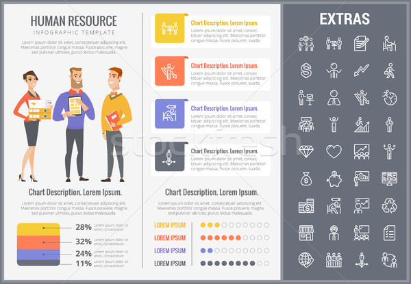 Human resource infographic template and elements. Stock photo © RAStudio