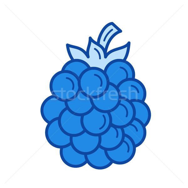 Blackberry line icon. Stock photo © RAStudio