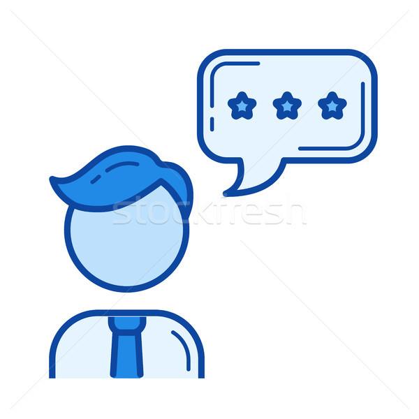 Sales assistant line icon. Stock photo © RAStudio