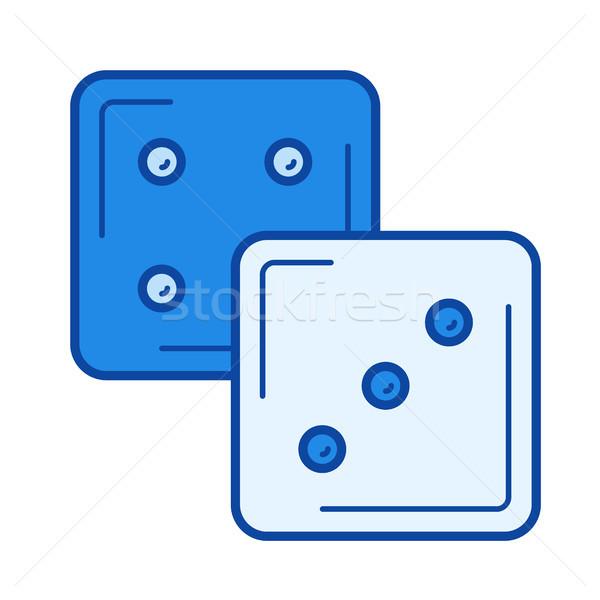 Dice cubes line icon. Stock photo © RAStudio