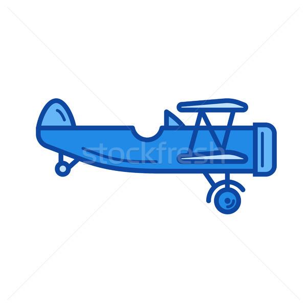 Vintage avião linha ícone vetor isolado Foto stock © RAStudio