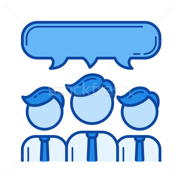 Collaboration line icon. Stock photo © RAStudio