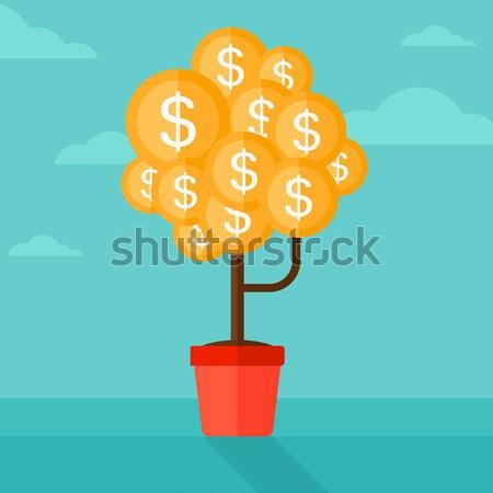 Stockfoto: Munten · vector · cartoon · illustratie · dollar