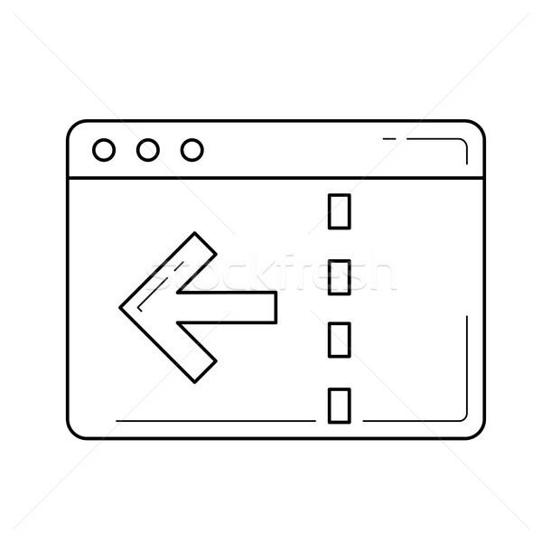 Navigazione line icona vettore isolato bianco Foto d'archivio © RAStudio