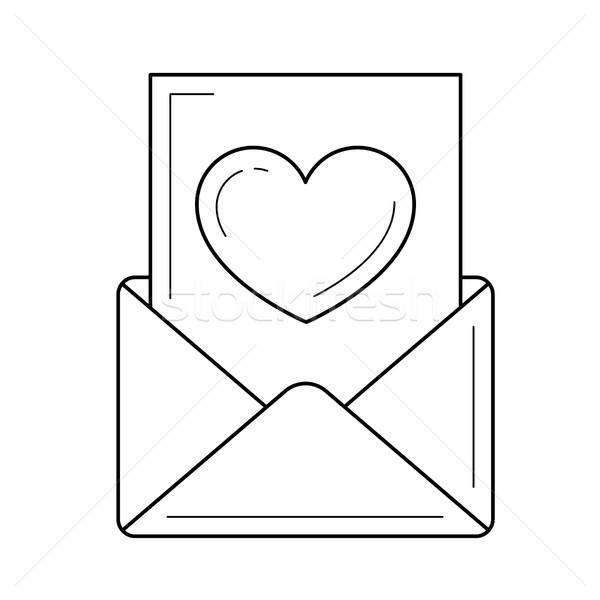 Stock fotó: Olvas · email · vonal · ikon · vektor · izolált