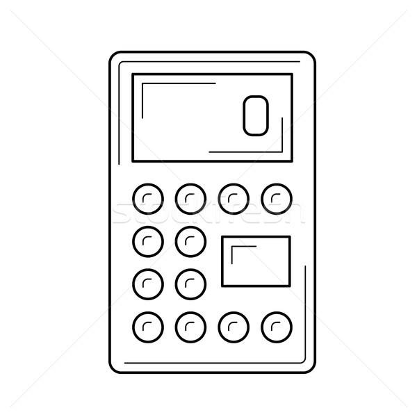 Calculator for count vector line icon. Stock photo © RAStudio