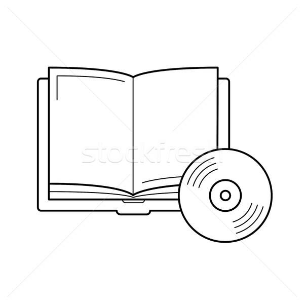 Audiobook vector line icon. Stock photo © RAStudio