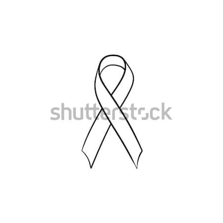 Bewustzijn lint schets doodle icon Stockfoto © RAStudio