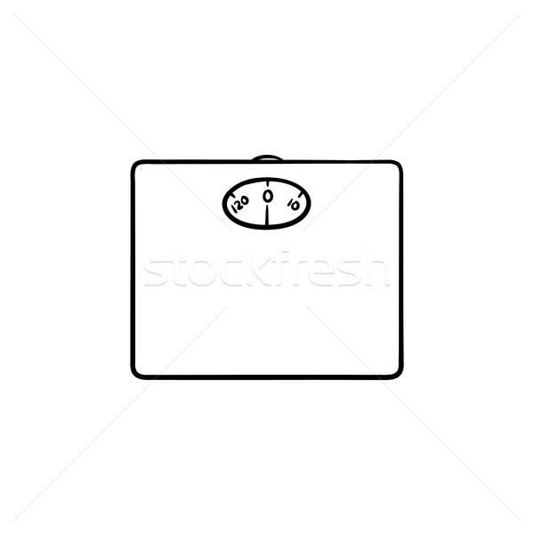 Scales hand drawn outline doodle icon. Stock photo © RAStudio