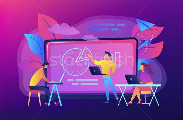 Digital classroom concept vector illustration. Stock photo © RAStudio