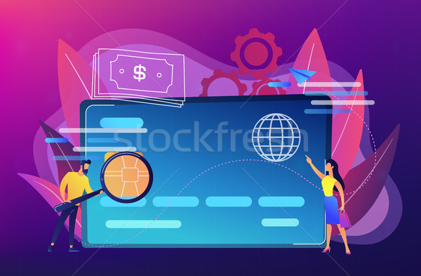 Plastic money concept vector illustration. Stock photo © RAStudio