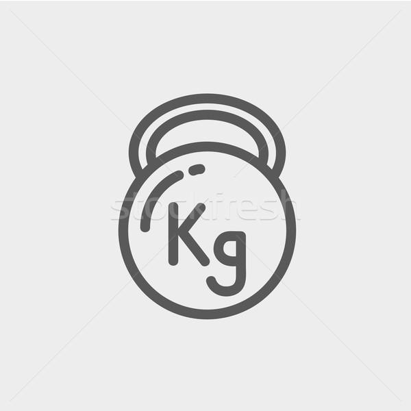 Kettlebell thin line icon Stock photo © RAStudio