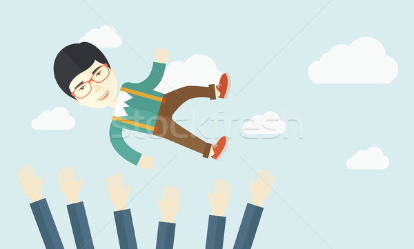 Agressief japans zakenman omhoog hemel Stockfoto © RAStudio