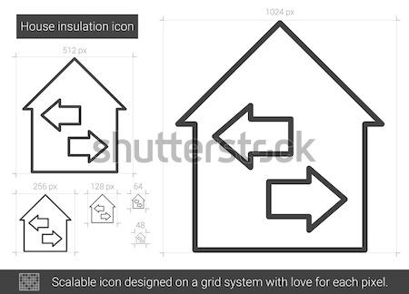 Property resale icon drawn in chalk. Stock photo © RAStudio