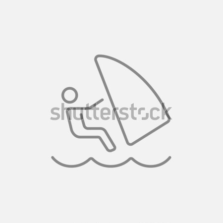 Wind surfing icon drawn in chalk. Stock photo © RAStudio