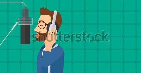 énekes stúdió derűs ázsiai lemez hang Stock fotó © RAStudio