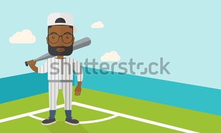 Baseball player man. Stock photo © RAStudio