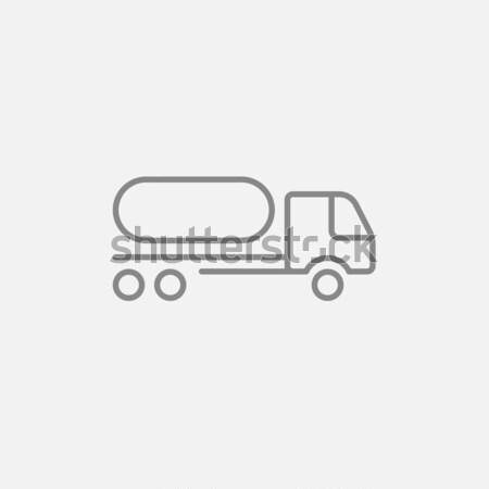 Yakıt kamyon hat ikon web hareketli Stok fotoğraf © RAStudio