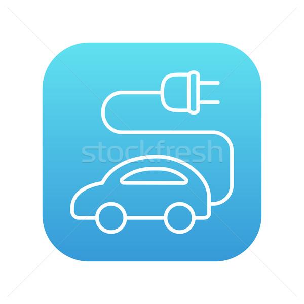Auto elettrica line icona web mobile infografica Foto d'archivio © RAStudio