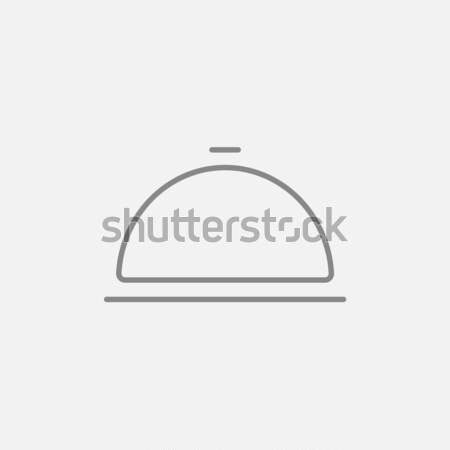 Restaurant cloche line icon. Stock photo © RAStudio