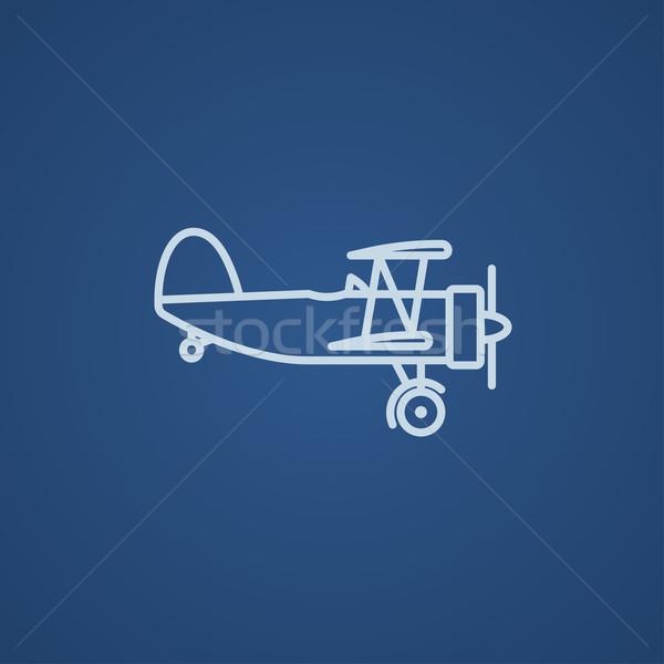 Propeller plane line icon. Stock photo © RAStudio