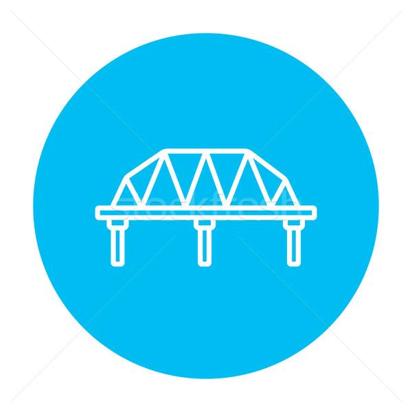 Ray yol köprü hat ikon web Stok fotoğraf © RAStudio