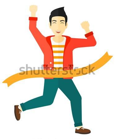 Empresário feliz empresários corrida Foto stock © RAStudio