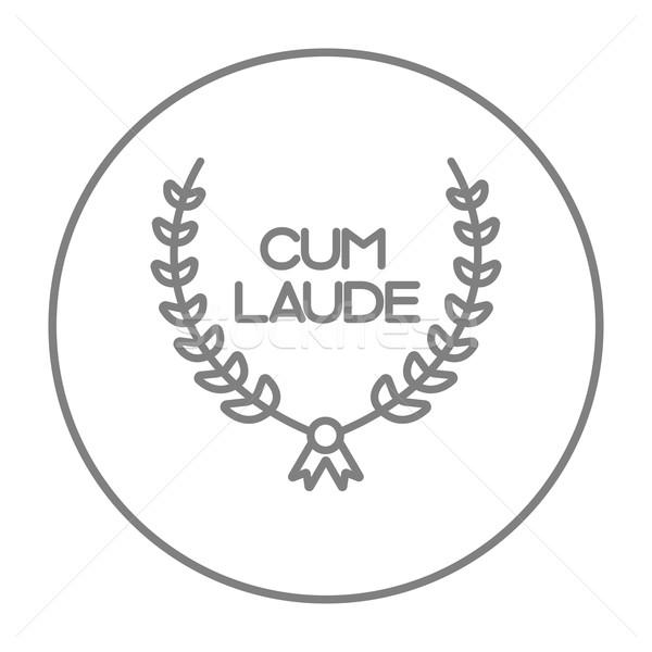 Laurel corona línea icono web móviles Foto stock © RAStudio