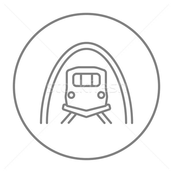 鉄道 トンネル 行 アイコン ウェブ 携帯 ストックフォト © RAStudio