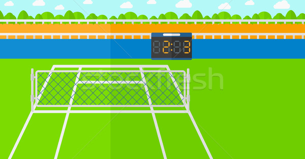 Stock photo: Background of tennis court.