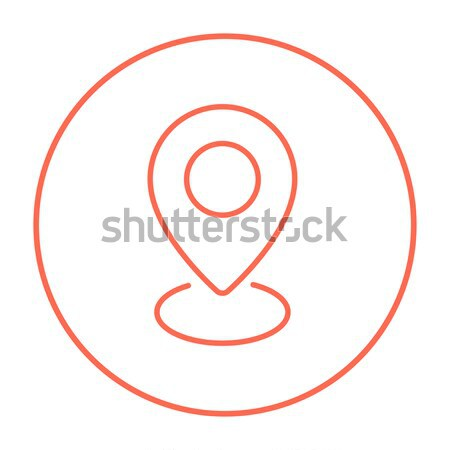 Navigator guide itinerary line icon. Stock photo © RAStudio