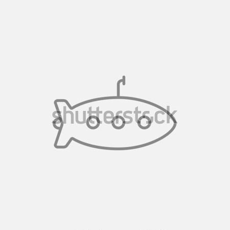 Onderzeeër lijn icon web mobiele infographics Stockfoto © RAStudio
