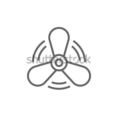 лодка пропеллер линия икона уголки веб Сток-фото © RAStudio