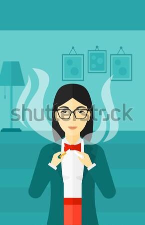 Woman quit smoking. Stock photo © RAStudio