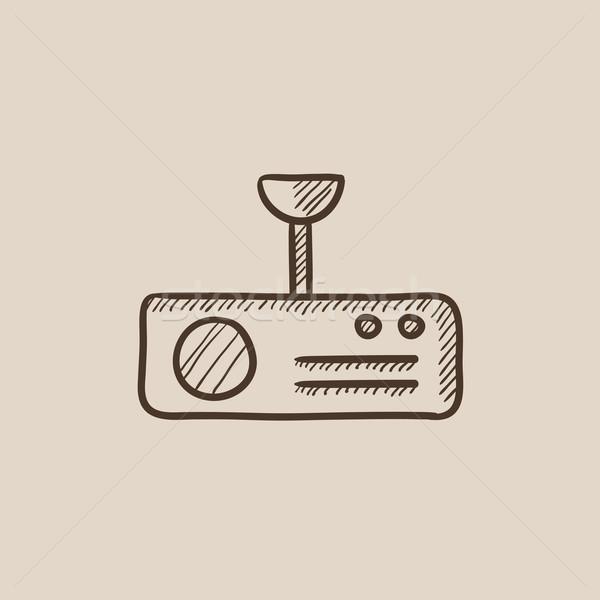 Digitális projektor rajz ikon háló mobil Stock fotó © RAStudio