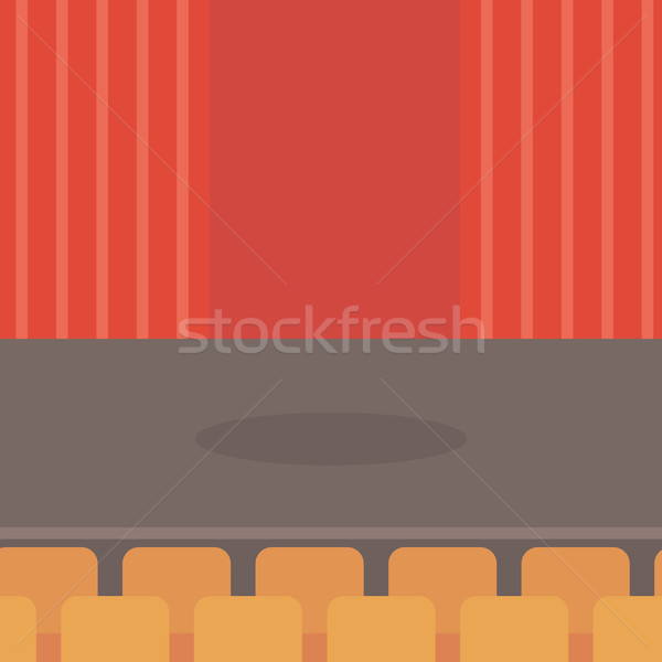 Theater stage with curtains, seats and spotlight. Stock photo © RAStudio