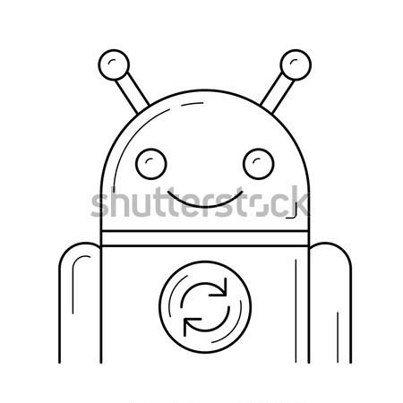 Android frissít felirat rajz ikon vektor Stock fotó © RAStudio