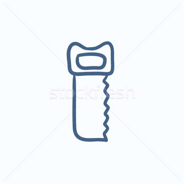 Zag schets icon vector geïsoleerd Stockfoto © RAStudio