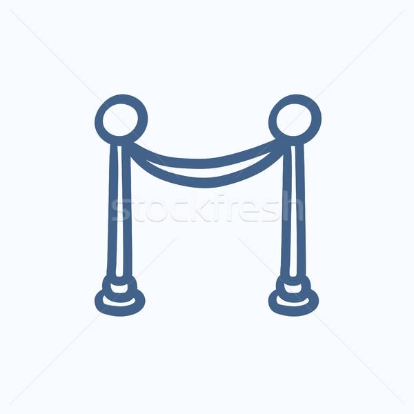 Hordozható fogas szalag rajz ikon vektor Stock fotó © RAStudio