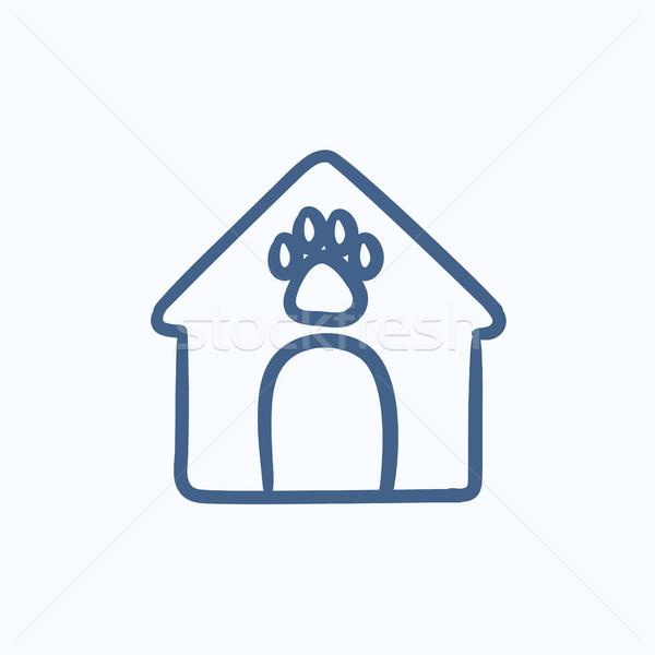 Doghouse sketch icon. Stock photo © RAStudio